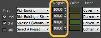 Weights for Effects