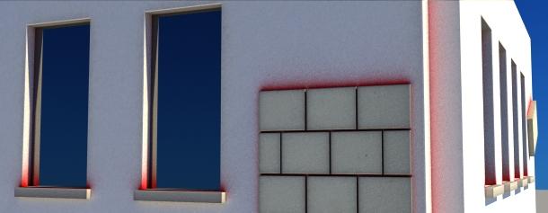 RichDirt Splashes on stucco wall