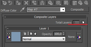 3ds Max composite map - add a layer